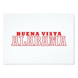 Buena Vista, Alabama City Design Personalized Invite
