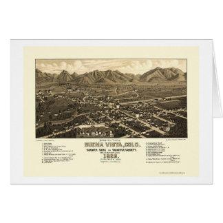 Buena Vista, CO Panoramic Map - 1882 Card