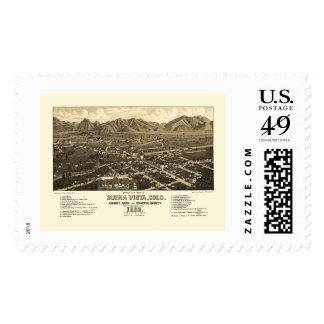Buena Vista, CO Panoramic Map - 1882 Postage