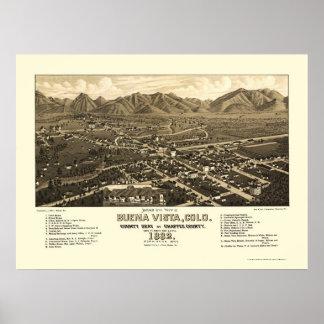 Buena Vista, CO Panoramic Map - 1882 Poster