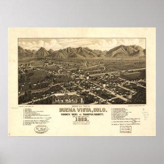 Buena Vista Colorado 1882 Panoramic Map Poster