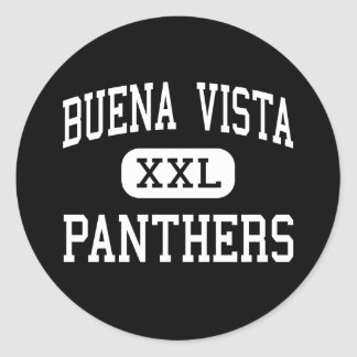 Buena Vista - Panthers - Continuation - Taft Classic Round Sticker