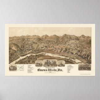 Buena Vista, VA Panoramic Map - 1891 Poster