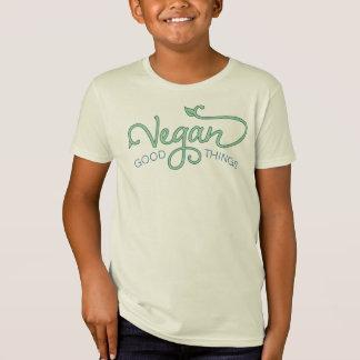 Buenas cosas del vegano - camiseta orgánica de los