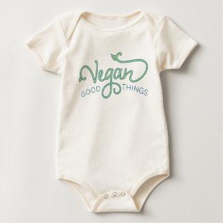 Buenas cosas del vegano - puente de bebé body para bebé