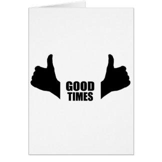Buenas épocas tarjeta de felicitación