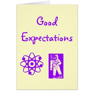 Buenas expectativas tarjeta de felicitación