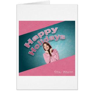 Buenas fiestas 325 tarjeta de felicitación