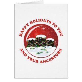 Buenas fiestas a usted y a sus antepasados tarjeta de felicitación