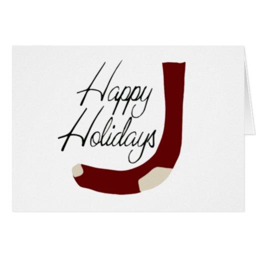 Buenas fiestas almacenando tarjeta de felicitación