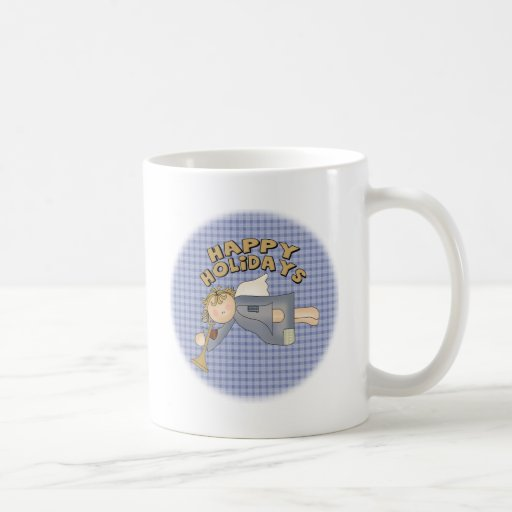 Buenas fiestas ángel taza de café
