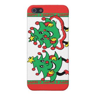Buenas fiestas árboles de navidad divertidos del b iPhone 5 coberturas