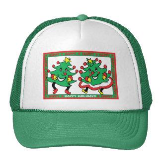 Buenas fiestas árboles de navidad divertidos del b gorra