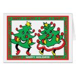 Buenas fiestas árboles de navidad divertidos del b tarjetas
