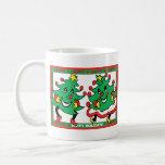 Buenas fiestas árboles de navidad divertidos del b taza de café