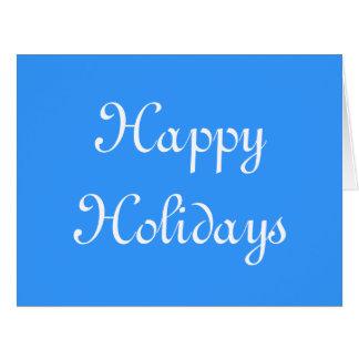 Buenas fiestas Azul y blanco Festivo Felicitaciones
