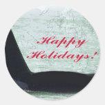 Buenas fiestas: Ballena buenas fiestas San Juan de Etiquetas Redondas