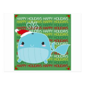 Buenas fiestas ballena postales