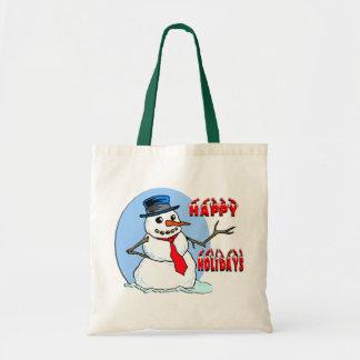 Buenas fiestas bolsos del regalo del muñeco de nie bolsas