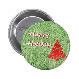 Buenas fiestas botón pin redondo de 2 pulgadas