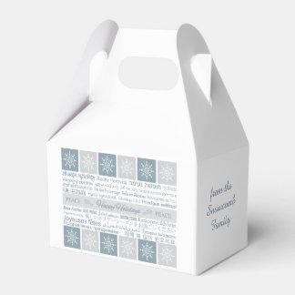 """""""Buenas fiestas"""" caja de encargo multilingüe del Caja Para Regalo De Boda"""