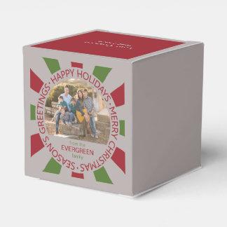 Buenas fiestas caja del favor de encargo de la caja para regalos