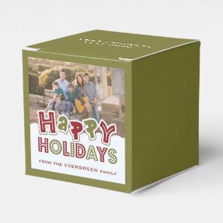 Buenas fiestas caja del favor de encargo de la caja para regalos de fiestas