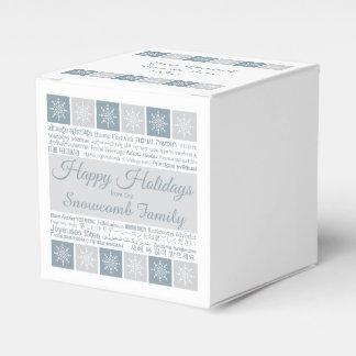 """""""Buenas fiestas"""" cajas de encargo multilingües del Cajas Para Regalos De Fiestas"""