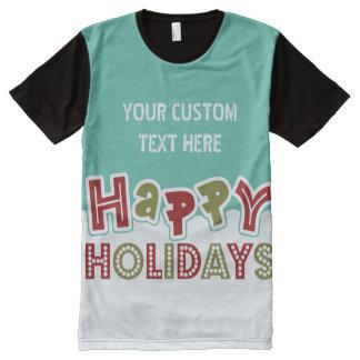 Buenas fiestas camiseta de encargo del texto