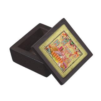 Buenas fiestas caramelo caja de joyas de calidad