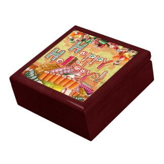 Buenas fiestas caramelo cajas de recuerdo