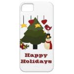 Buenas fiestas caso lindo del iPhone 5 del navidad iPhone 5 Protectores