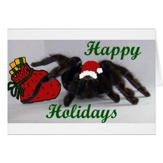 ¡Buenas fiestas! ¿… con un Tarantula? Tarjeta De Felicitación