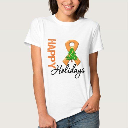 Buenas fiestas conciencia de la leucemia t shirts