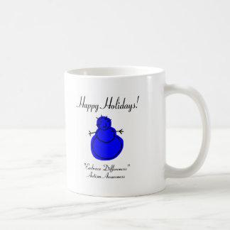 Buenas fiestas conciencia del autismo tazas de café