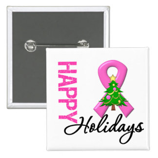 Buenas fiestas conciencia del cáncer de pecho pin