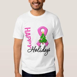 Buenas fiestas conciencia del cáncer de pecho poleras