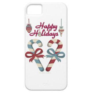 Buenas fiestas corazón del bastón de caramelo funda para iPhone SE/5/5s