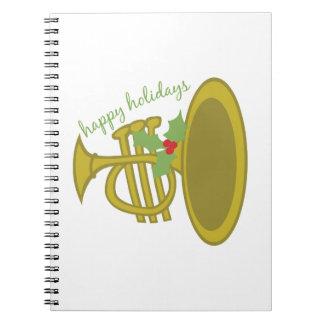 Buenas fiestas spiral notebook