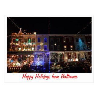 Buenas fiestas de Baltimore Tarjeta Postal