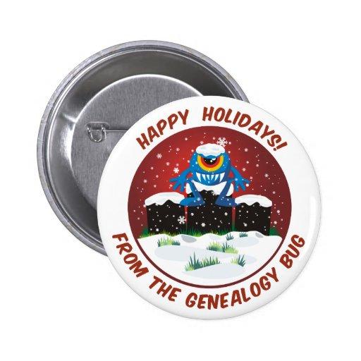Buenas fiestas de insecto de la genealogía pin