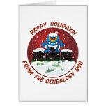 Buenas fiestas de insecto de la genealogía felicitación
