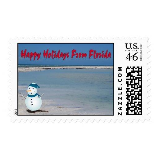 Buenas fiestas de la Florida, muñeco de nieve en l Envio