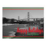 Buenas fiestas de la postal de California