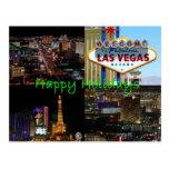 Buenas fiestas de la postal escénica de Las Vegas