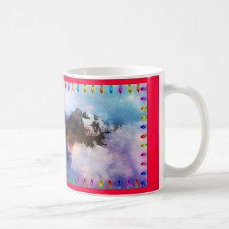 Buenas fiestas de la taza del ratón de la nieve