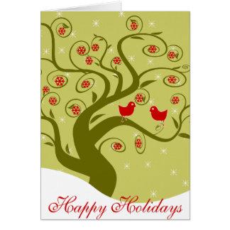 Buenas fiestas de nuestro hogar casero del pío el tarjeta de felicitación
