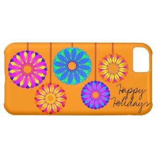 Buenas fiestas decoraciones de la flor funda para iPhone 5C