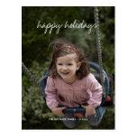 Buenas fiestas deseos del día de fiesta de la foto tarjetas postales
