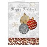 Buenas fiestas diseño imaginario del ornamento del tarjeta de felicitación